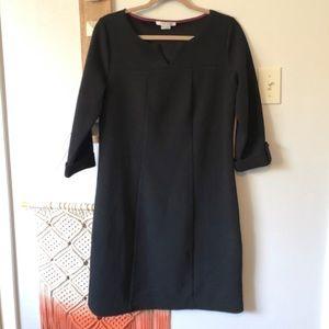 Boden Genevieve Black Knit Sheath Dress
